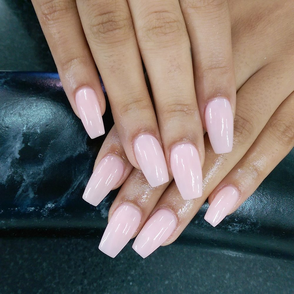 Fluorescent pink acrylic nails - New Expression Nails