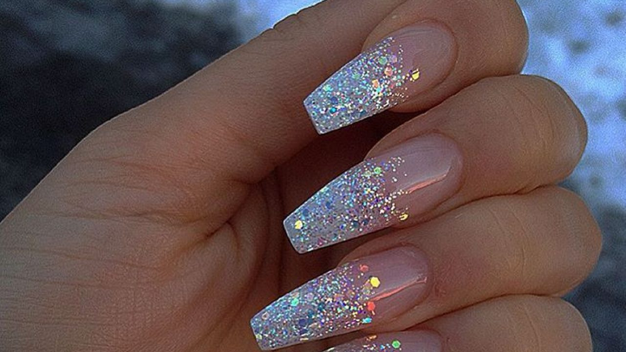 Acrylic nails coffin glitter , New Expression Nails
