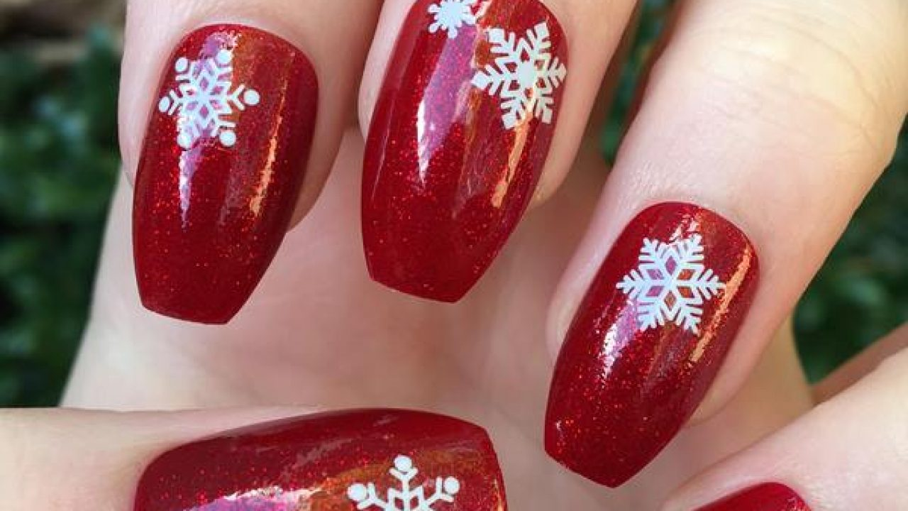 Christmas and new year nail designs coffin nails , New