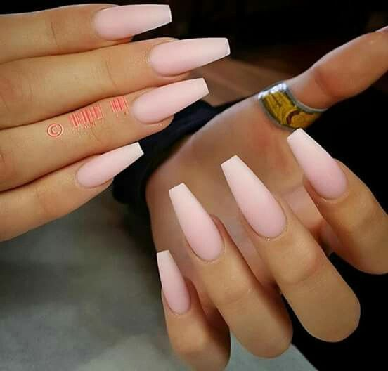 Clear Matte Coffin Nails New Expression Nails