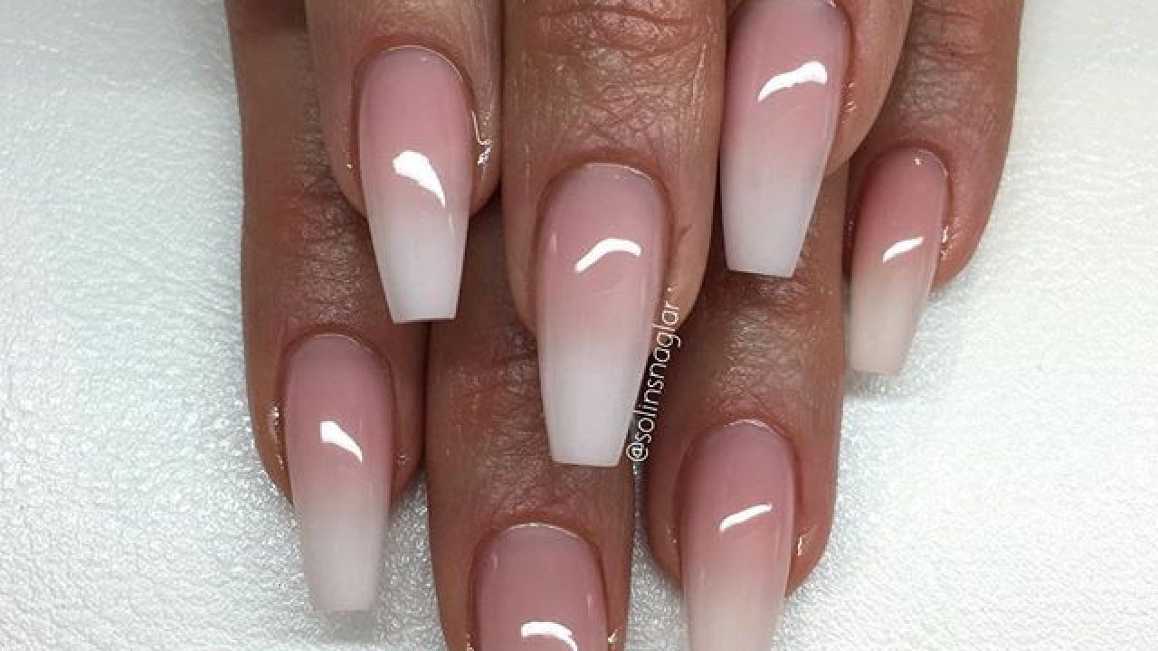 Cotton Candy Rose Gold White Ombre Nails Nail And Manicure Trends