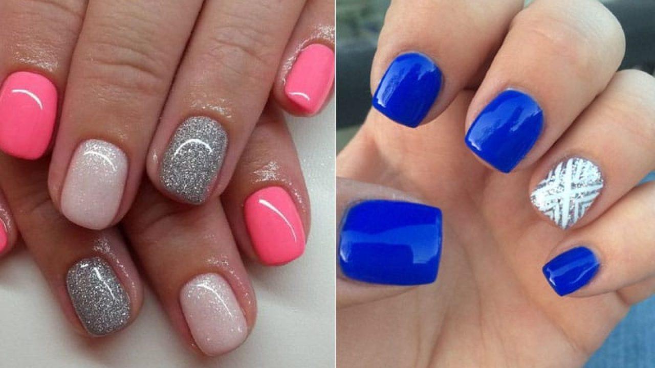 Cute short gel nails , New Expression Nails
