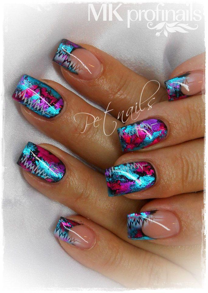 Foil gel nails - New Expression Nails