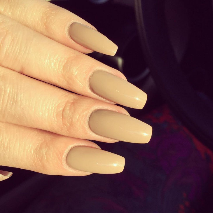 Matte coffin acrylic nails - New Expression Nails