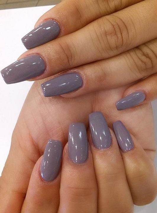 Medium length acrylic nails fall colors - New Expression Nails