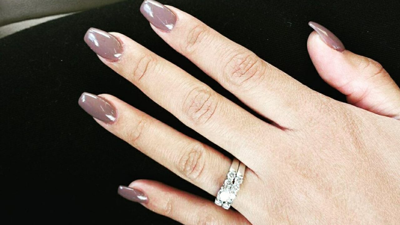 Medium length coffin nails , New Expression Nails