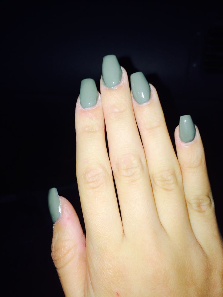 Short Coffin Shaped Acrylic Nails New Expression Nails
