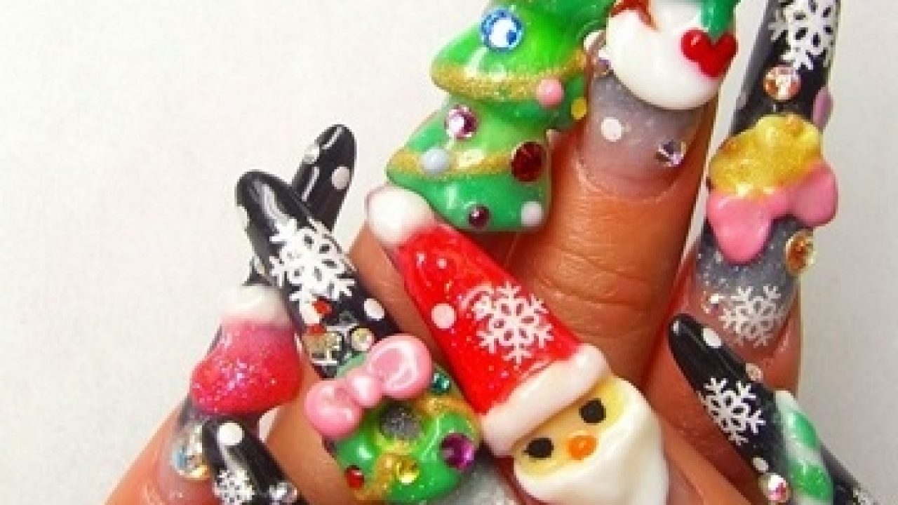 Christmas Stiletto Nails.Stiletto Nails Christmas Designs New Expression Nails