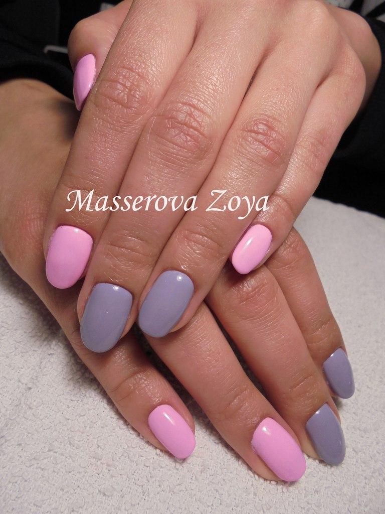2 color gel nails photo - 1