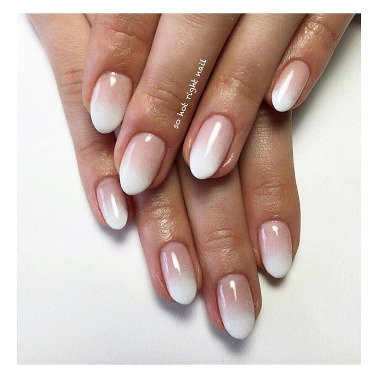 2018 fall acrylic nails dark french tip light tip photo - 2