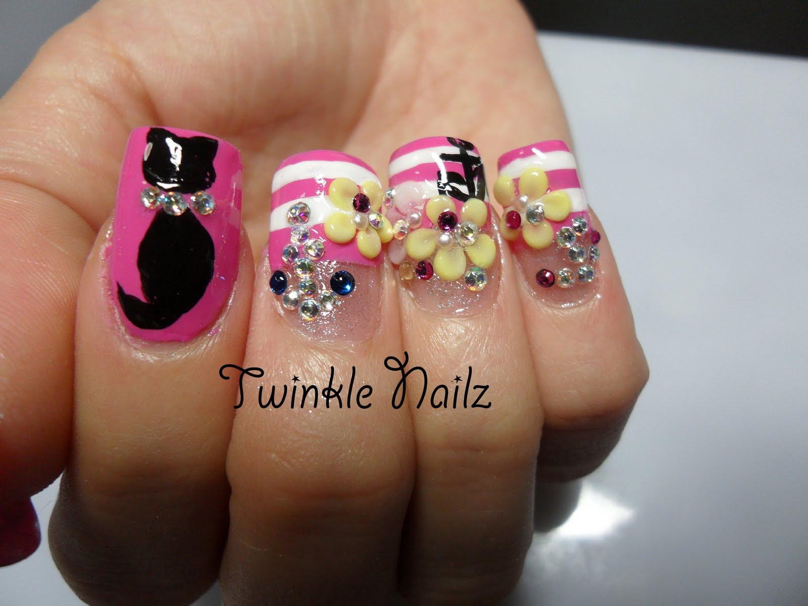 3d acrylic nails - Expression Nails