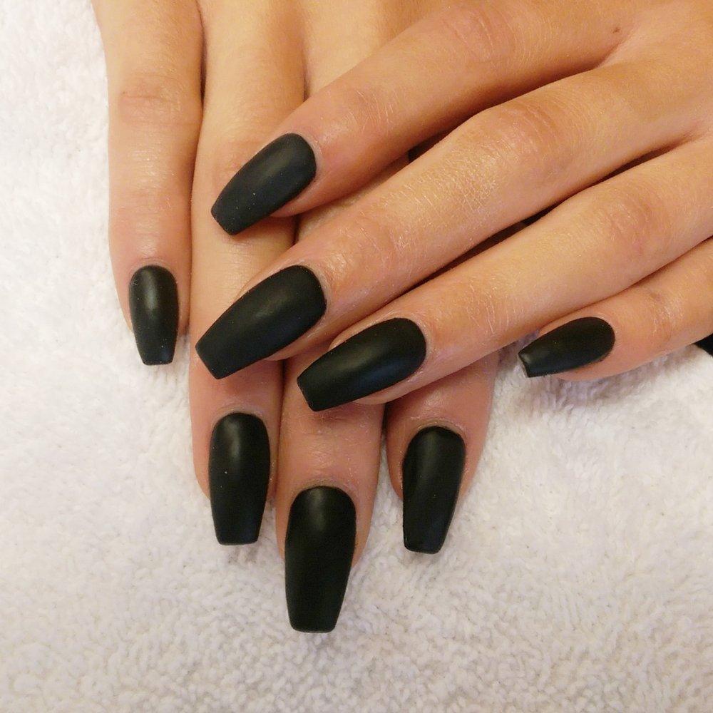 acrylic black nails photo - 1