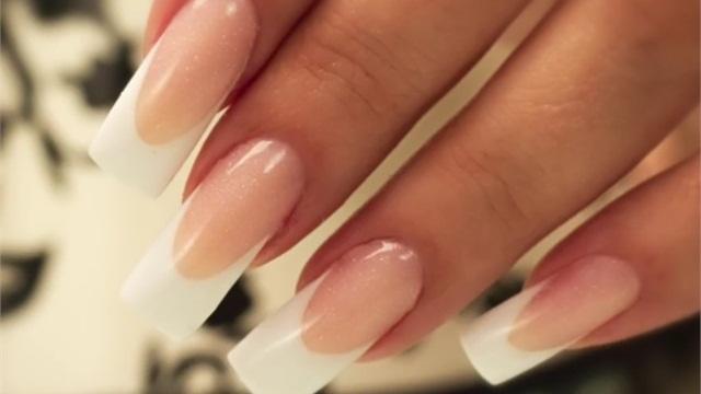 Acrylic french nails - Expression Nails