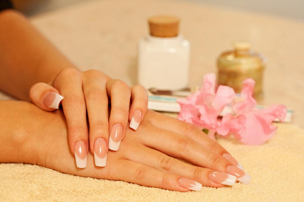 acrylic french tips nails photo - 2