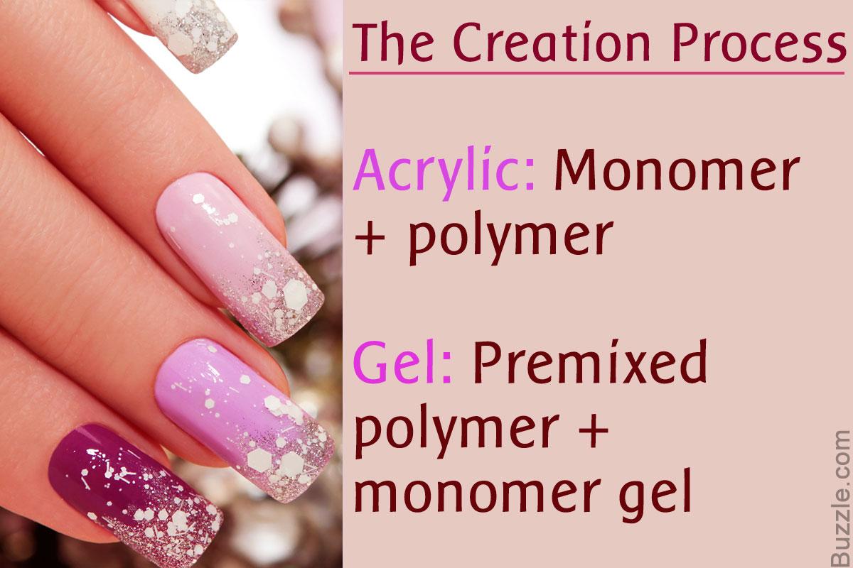 acrylic gel powder nails photo - 2