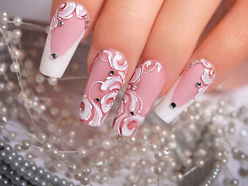 acrylic nails 1990s photo - 2