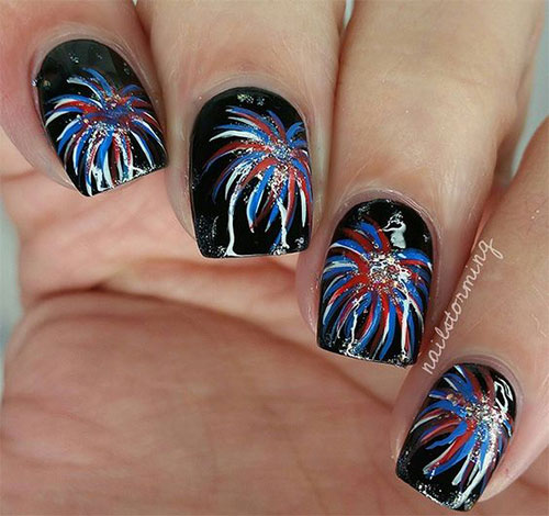 acrylic nails 4th of july photo - 1