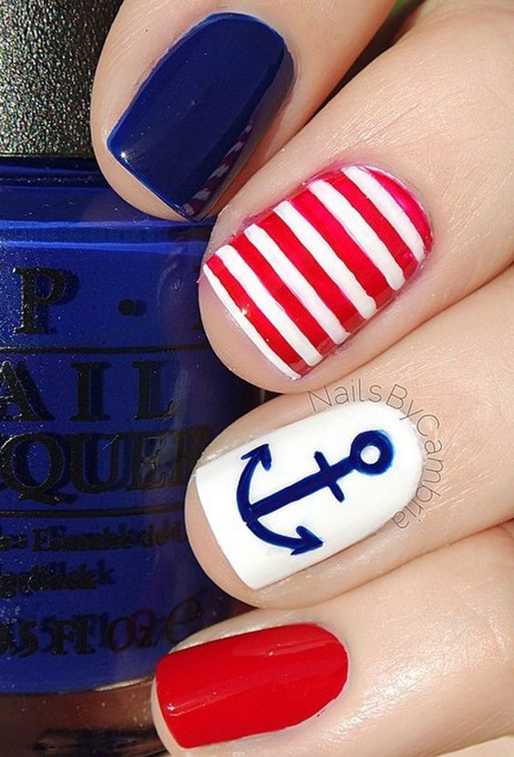 acrylic nails 4th of july photo - 2