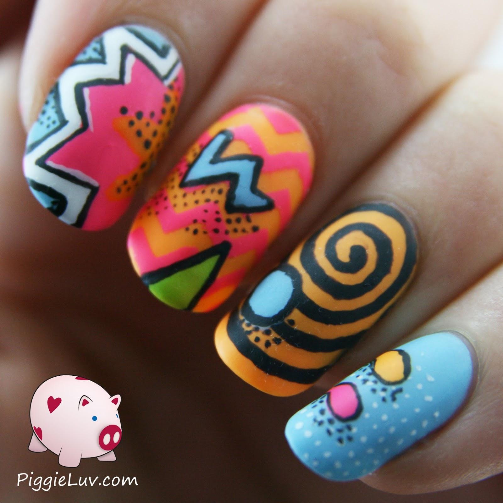 acrylic nails 80s photo - 1