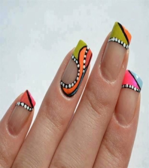 acrylic nails 80s photo - 2