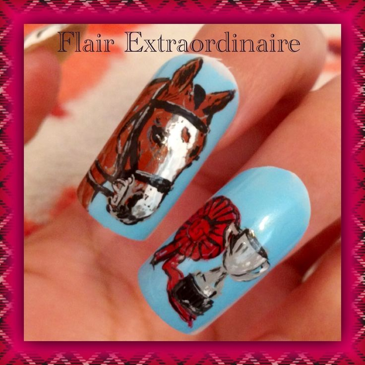 acrylic nails and horses photo - 2