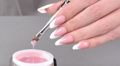 acrylic nails being done photo - 2