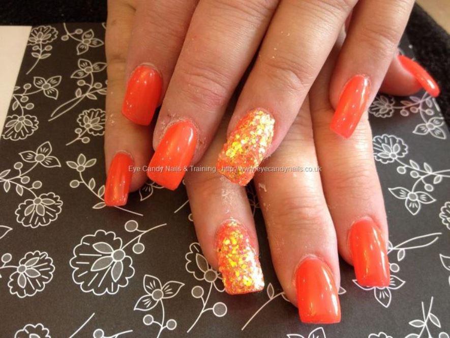 acrylic nails burnt orange photo - 2