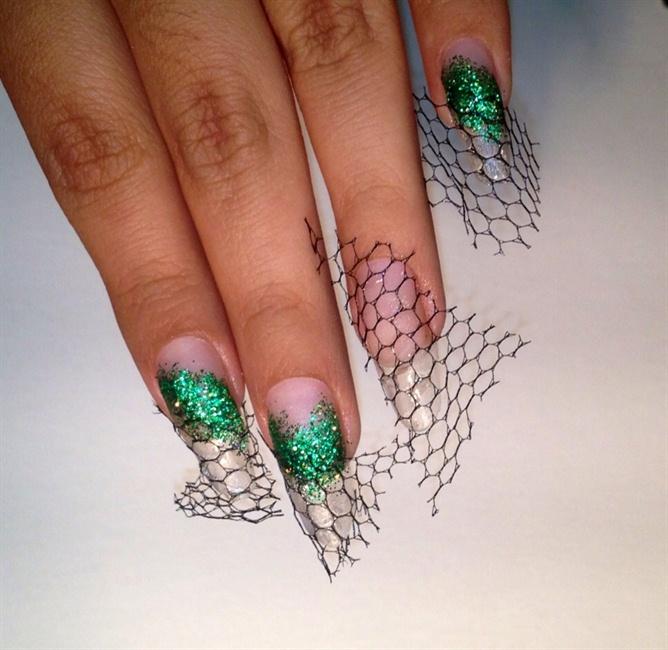 acrylic nails clear photo - 2