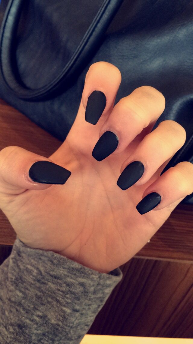 Acrylic nails coffin shape matte - Expression Nails