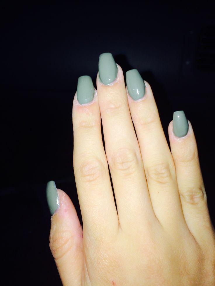 acrylic nails coffin short photo - 2