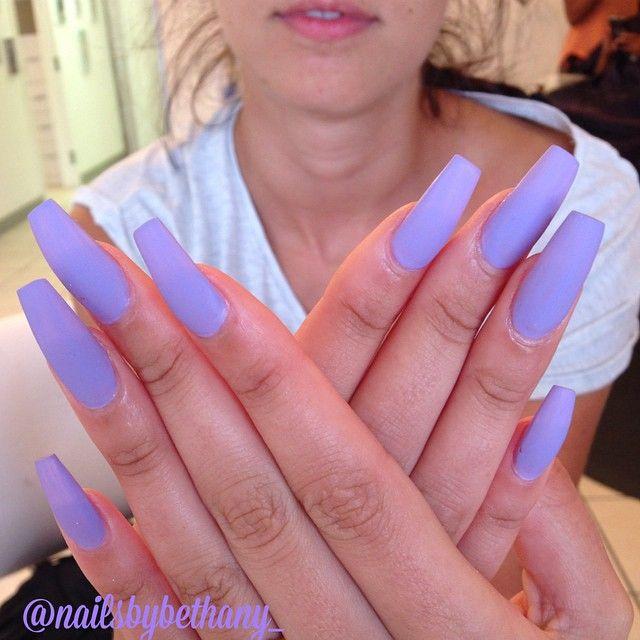 acrylic nails colors matte photo - 1