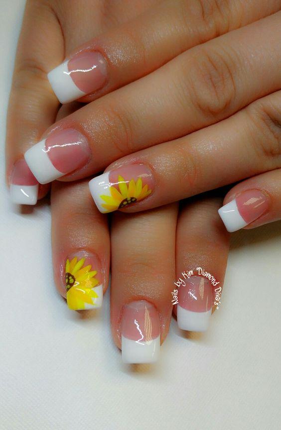 acrylic nails colors sunflower photo - 1