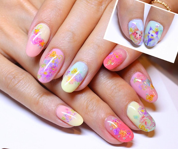acrylic nails cute photo - 2