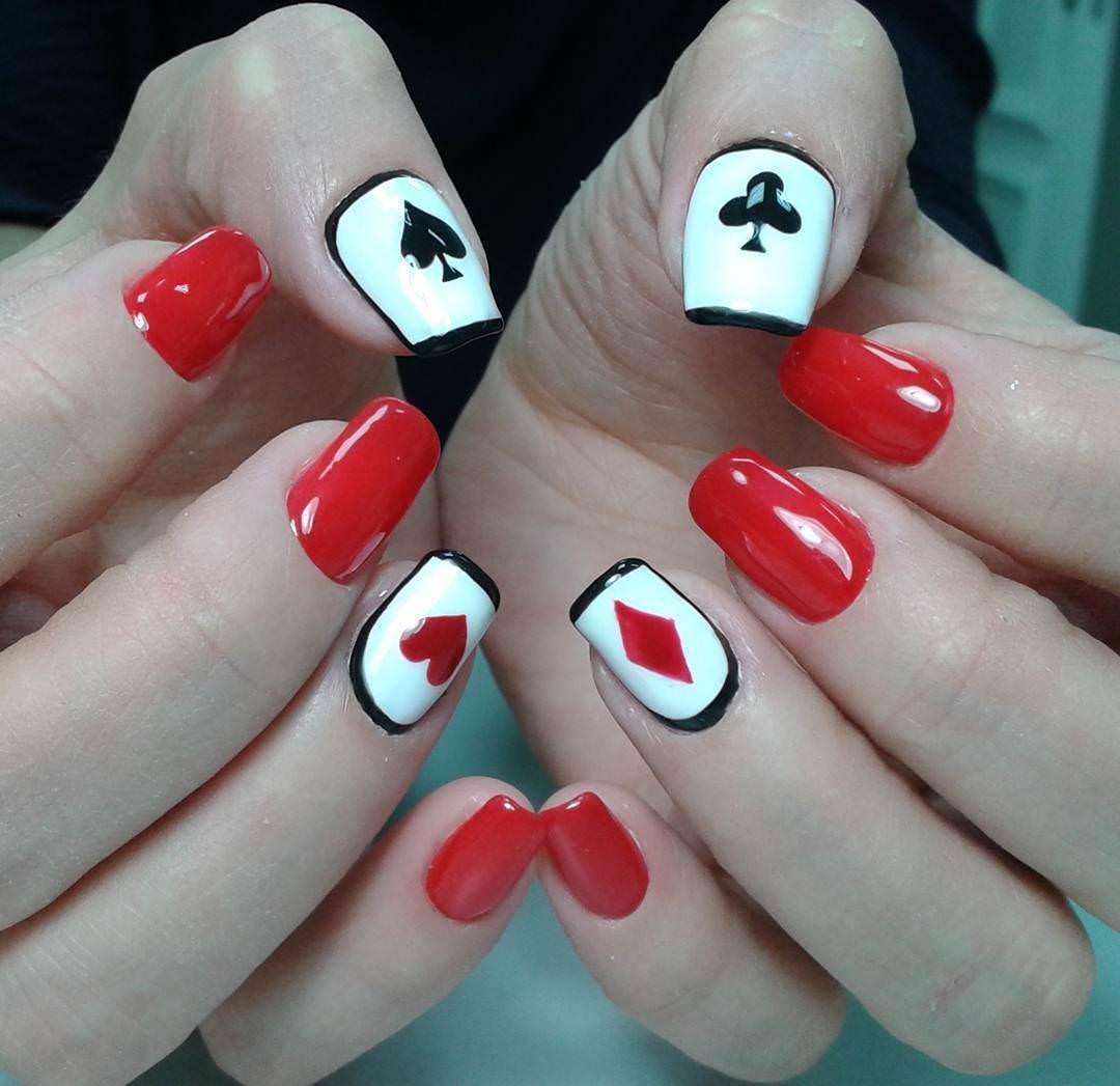 acrylic nails cute square photo - 2