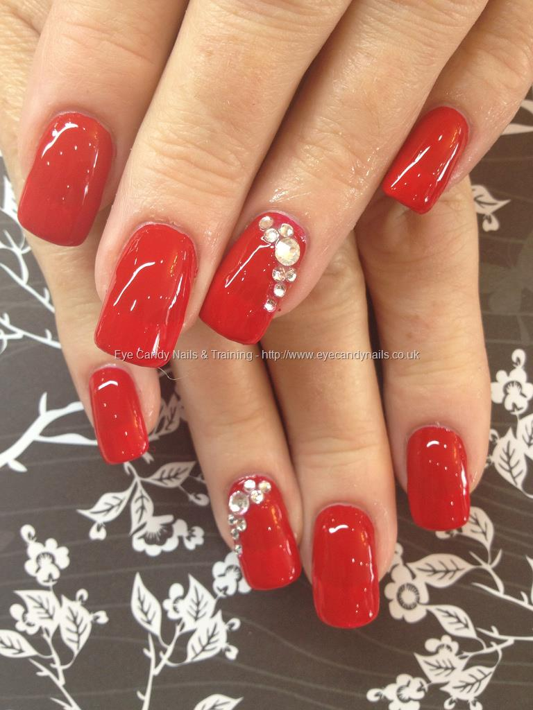 acrylic nails design with one finger in diamonds photo - 2