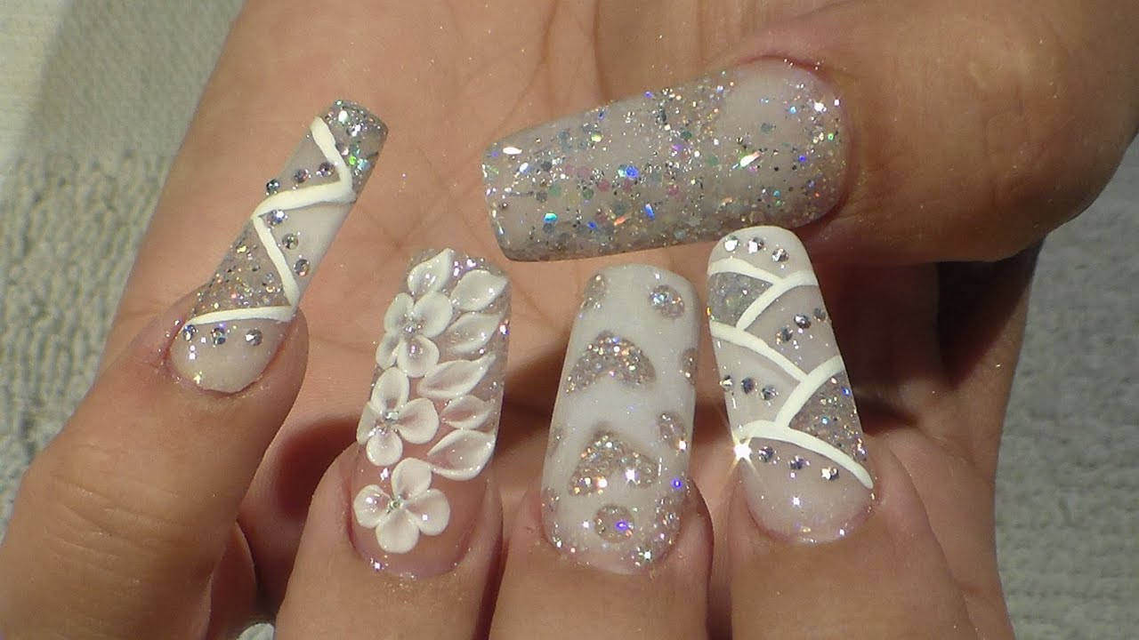 Acrylic nails designs for weddings - Expression Nails