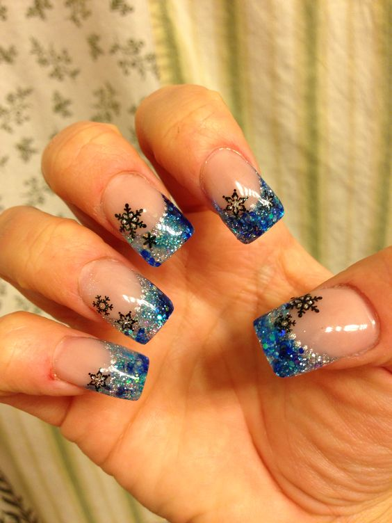 Acrylic nails designs winter , New Expression Nails