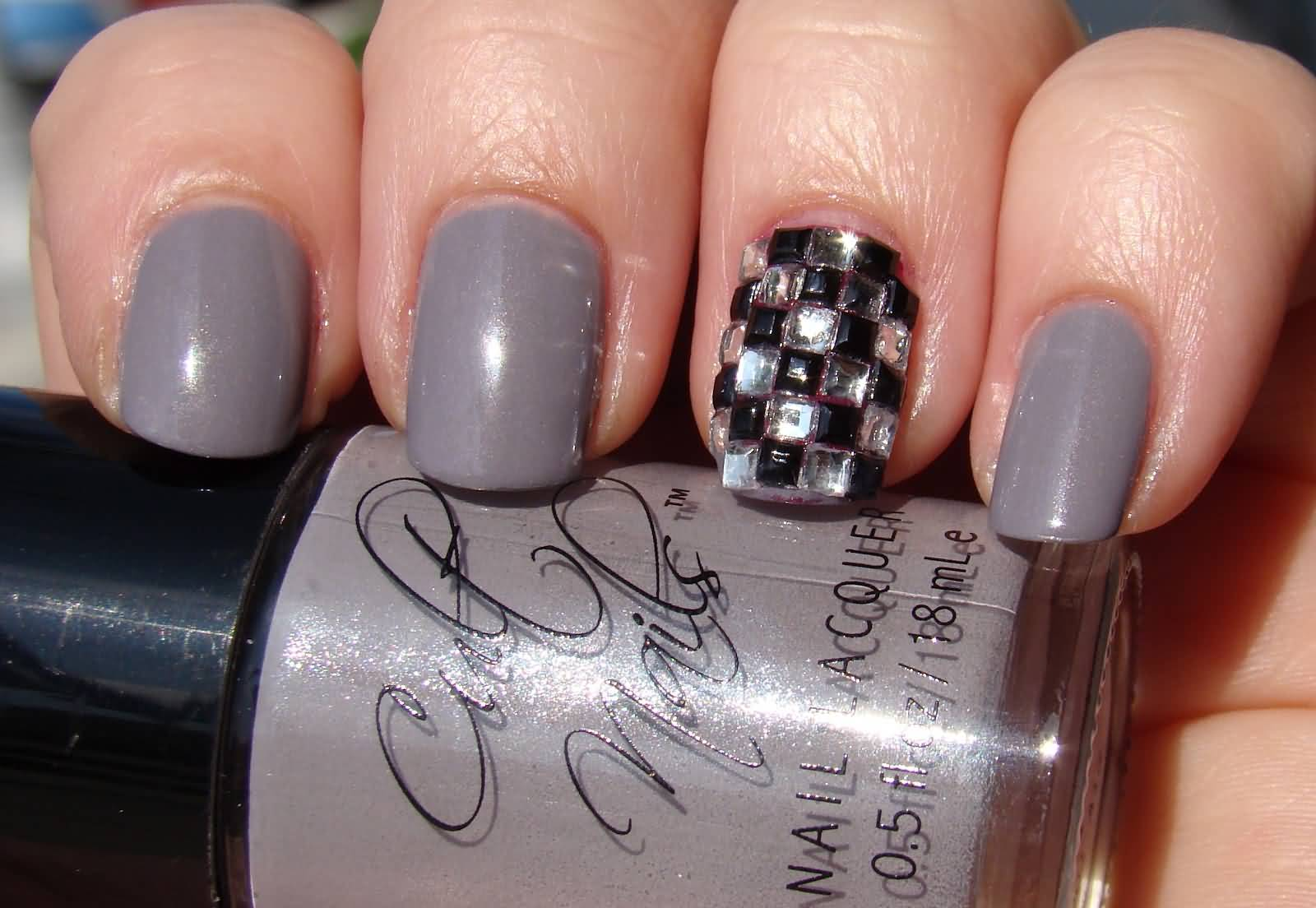 Acrylic Nails Designs With Rhinestones Expression Nails