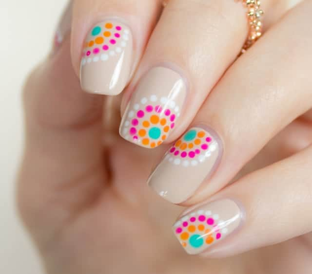 Acrylic nails flower designs - Expression Nails
