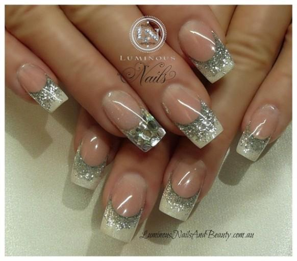 acrylic nails for bride photo - 2
