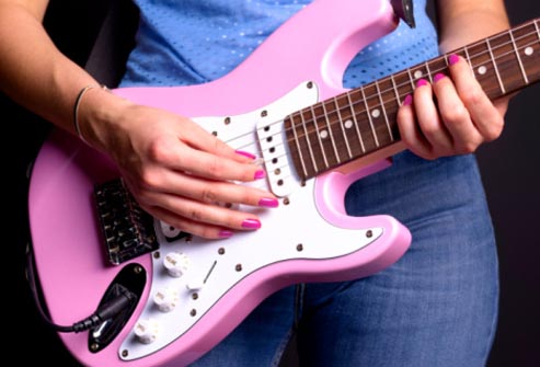 acrylic nails for guitar photo - 2
