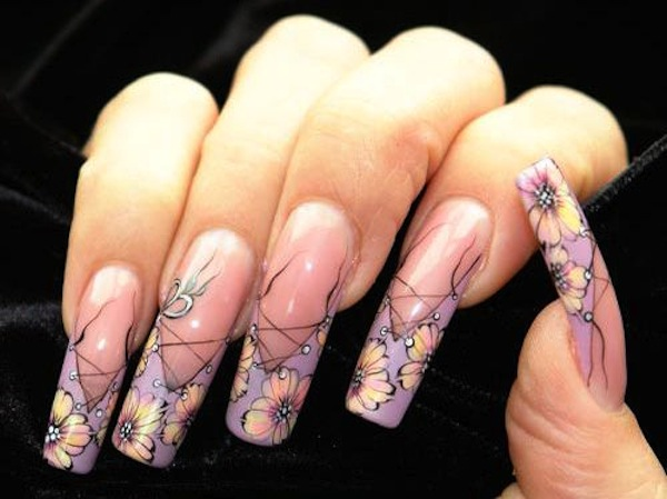acrylic nails french tip designs photo - 1 - Acrylic Nails French Tip Designs - Expression Nails