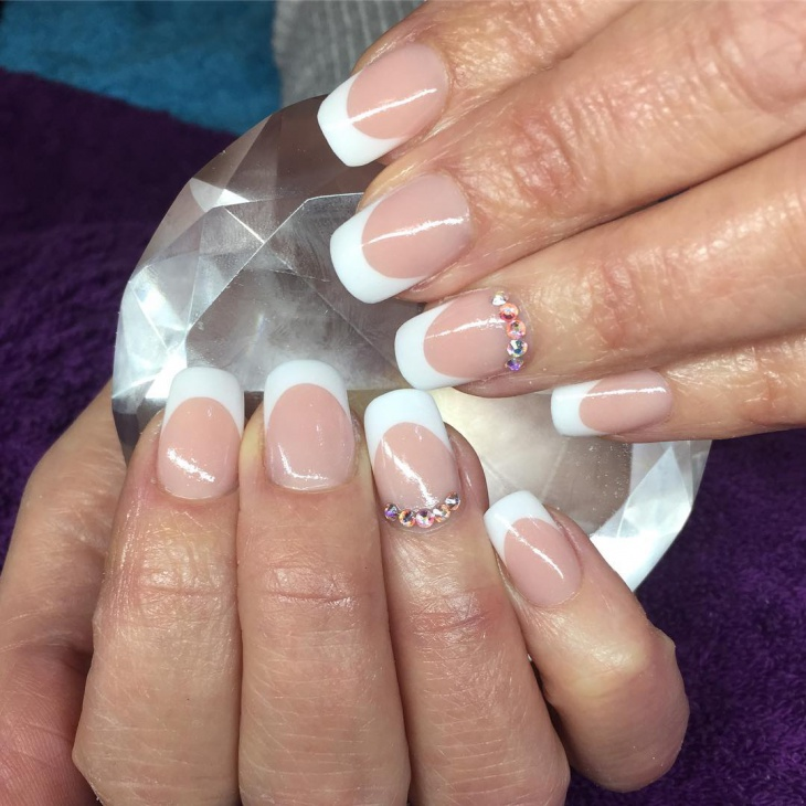 Acrylic nails french tip designs - Expression Nails