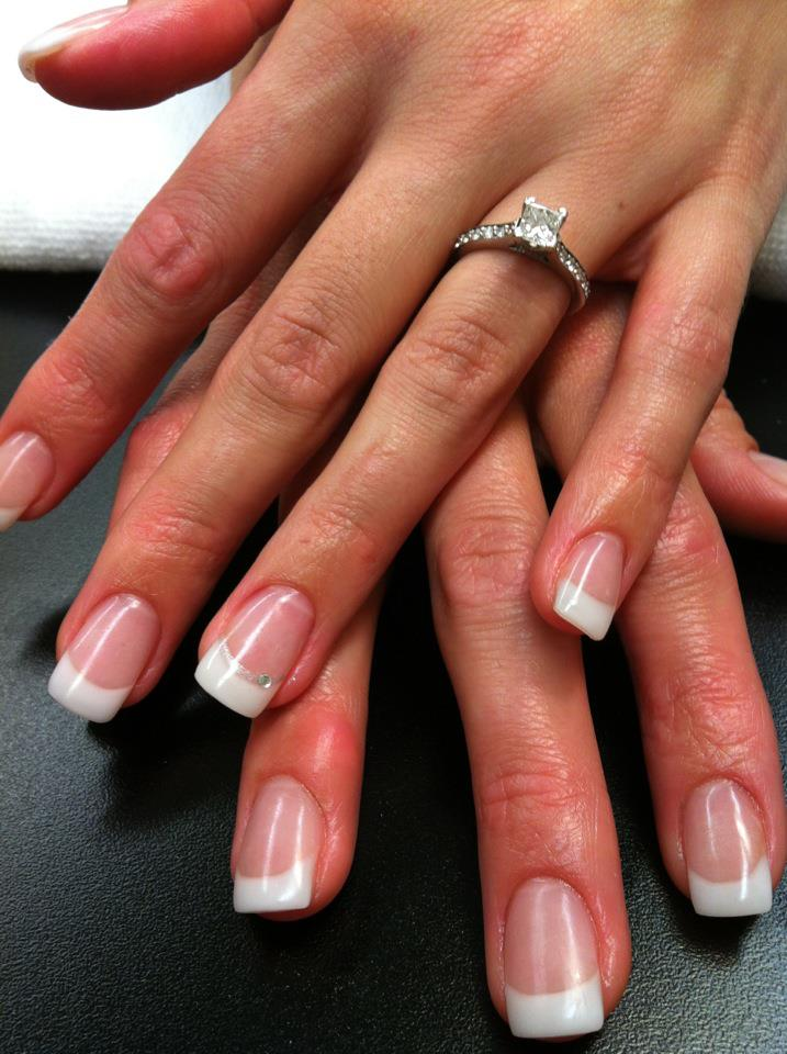 acrylic nails french tips photo - 2
