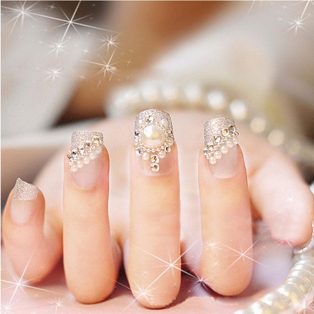 acrylic nails gliiter photo - 1