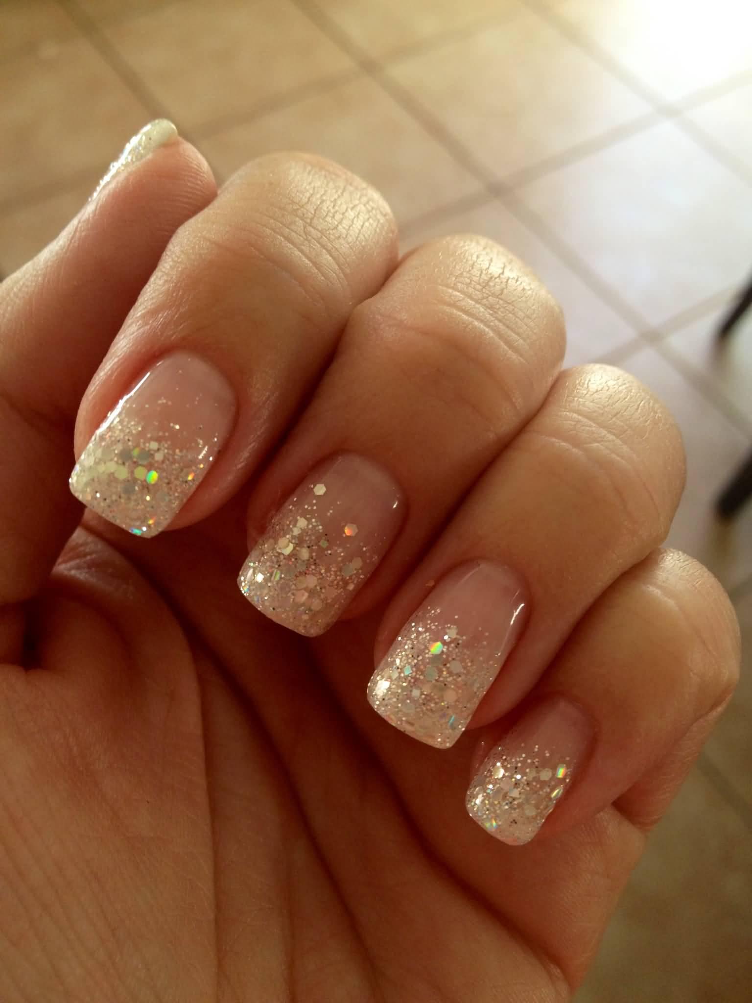 acrylic nails gliiter photo - 2