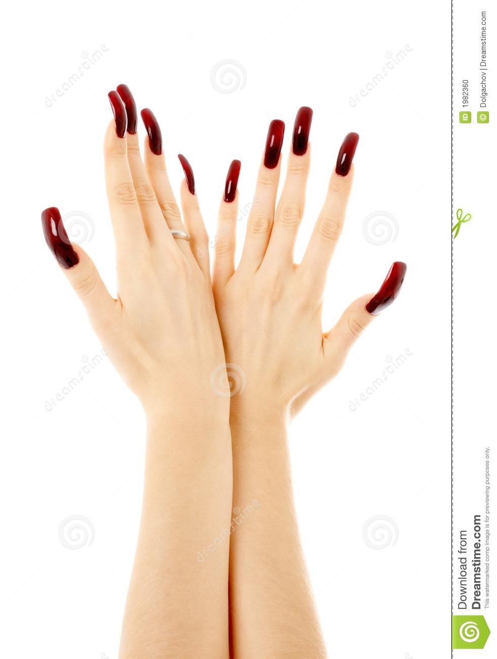 acrylic nails hands photo - 1