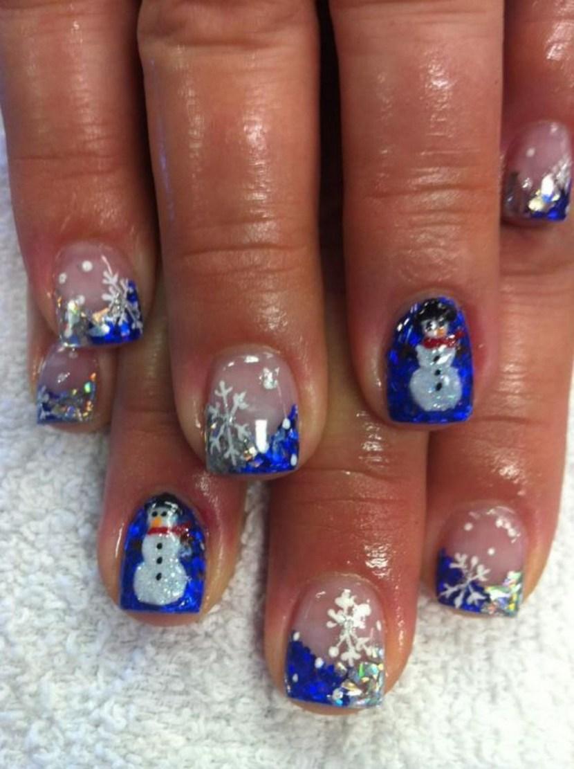 acrylic nails holiday photo - 2