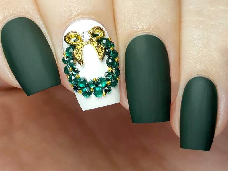 acrylic nails holiday nails 2018 photo - 1