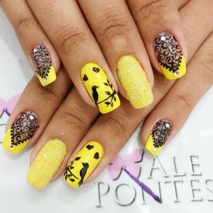 acrylic nails ideas yellow photo - 1